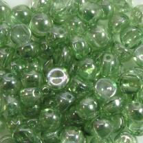 2-Hole-Cabochon Blue Luster