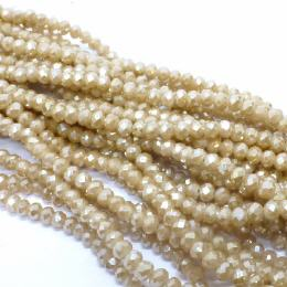 Glasstrang Dark Brown Luster 4mm