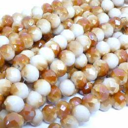 Glasstrang Light Creme Copper 8mm
