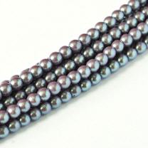 Pearl Shell Smoked Silver 3mm