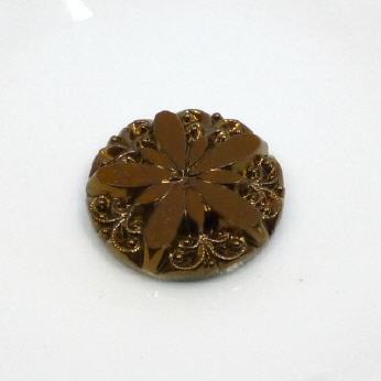 Round Cabochon Sonnenblume Hellrose